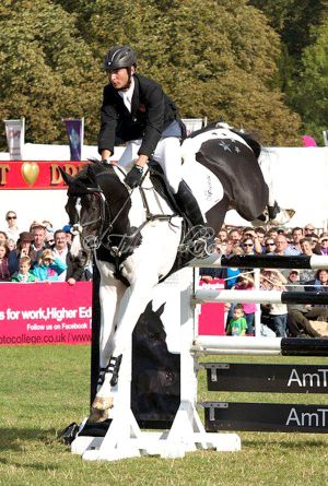 Commander clearing 1.55m  Amtrust High Jump - Blenheim, England